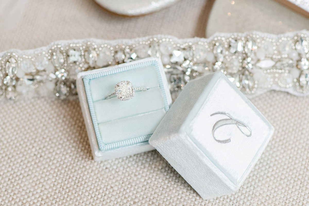 light blue mrs. box with wedding details