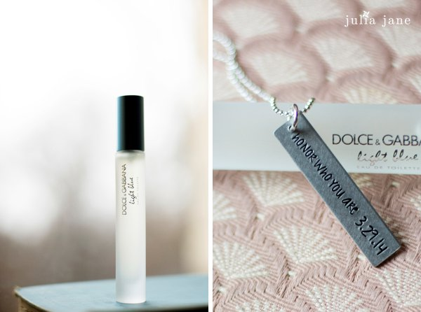 dolce and gabbana blue roll on perfume bridal details