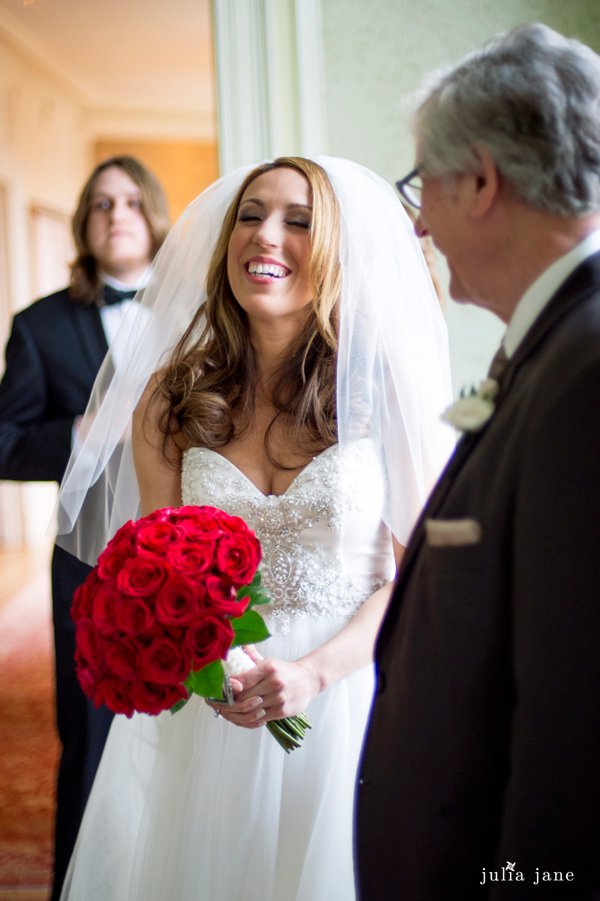 bride at cairnwood estate in bryn athyn, pa
