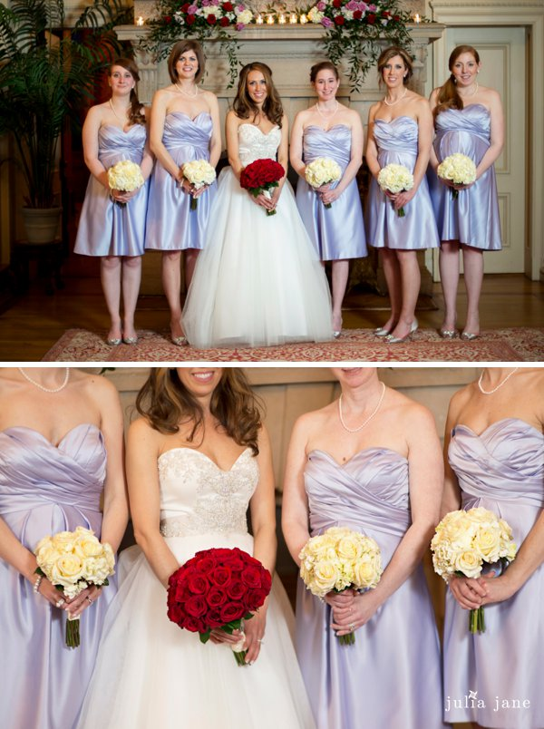 Indoor bridal party photos at Cairnwood Estate