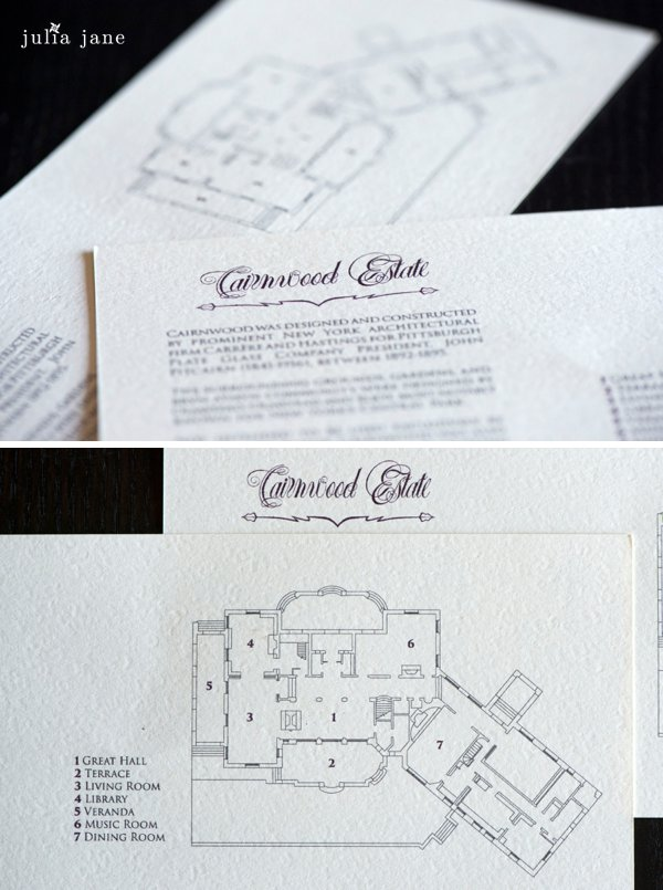 wedding invitations at Cairnwood Estate