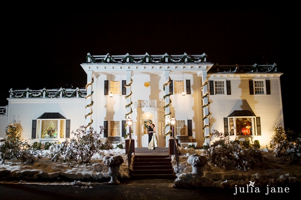 winter wedding at the fox hill inn by Connecticut wedding photographer Julia Jane Studios, www.juliajanestudios.com