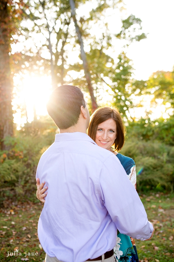fall engagement session in connecticut