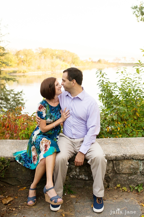 engagement session at tod's point in greenwich, ct