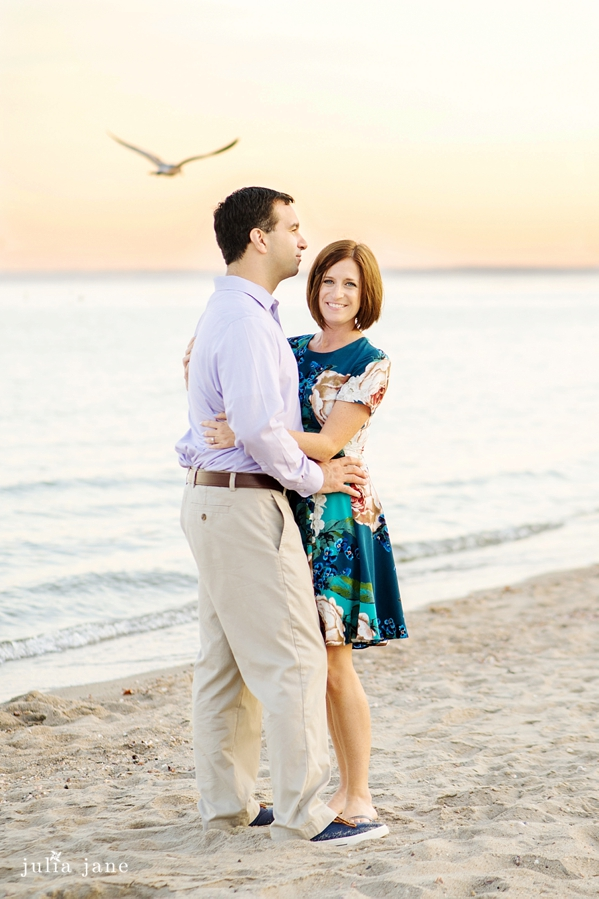 engagement session on the beach in greenwich, ct
