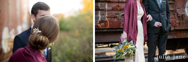couple portraits at the lace factory