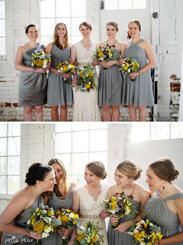 bridesmaids at the lace factory