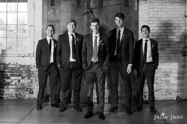 groomsman at the lace factory
