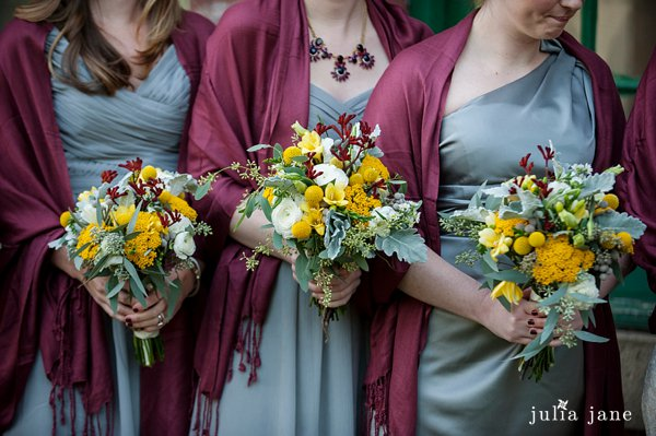 bridesmaids' bouquets by stylish blooms