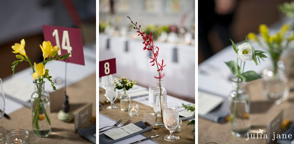 fall wedding at the lace factory