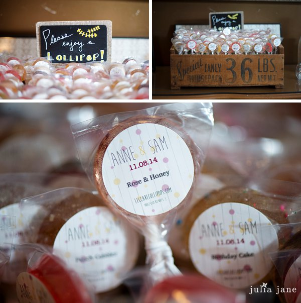 leccare lollipop wedding favors