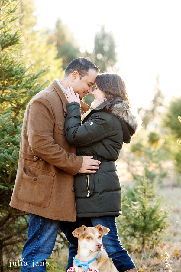 winter engagement session in connecticut