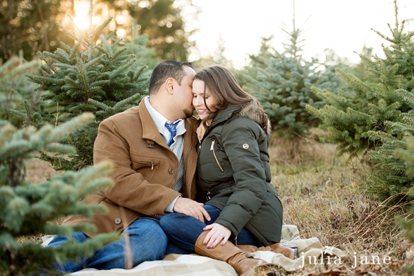 winter engagement session in middletown, ct
