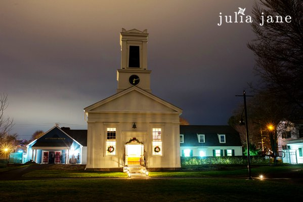 winter wedding at greenmanville church in Mystic Seaport by Connecticut wedding photographer Julia Jane Studios