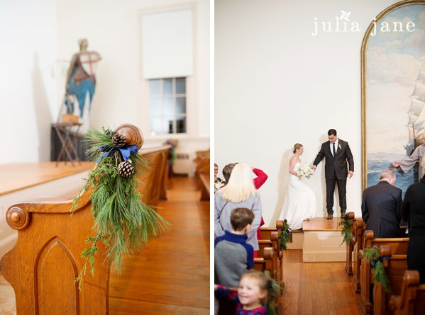 winter wedding at greenmaville church in mystic seaport by connecticut wedding photographer julia jane studios