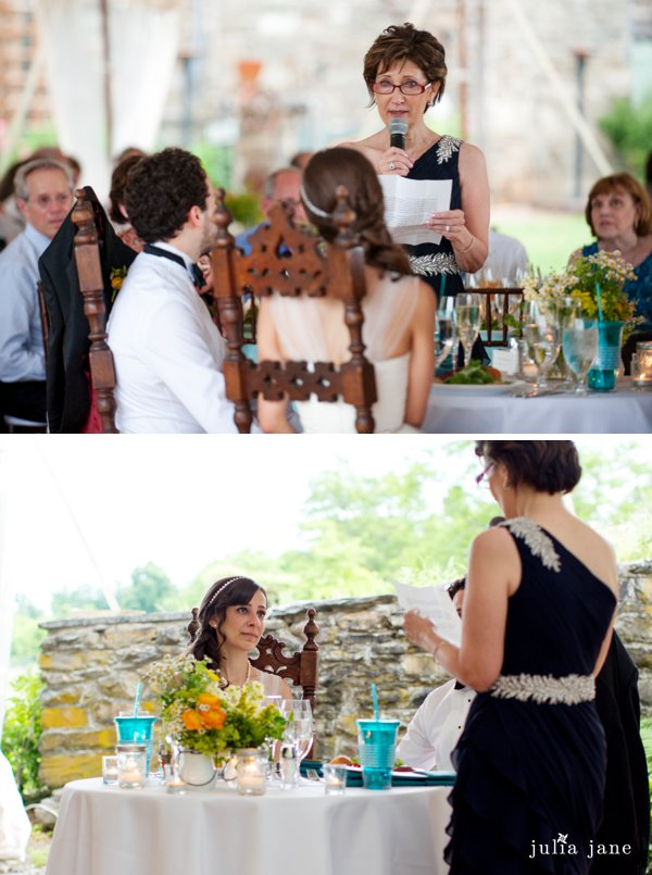 wedding toasts at red maple vineyard