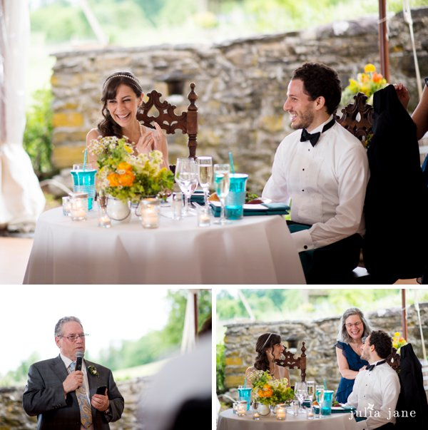 tented spring wedding at red maple vineyard
