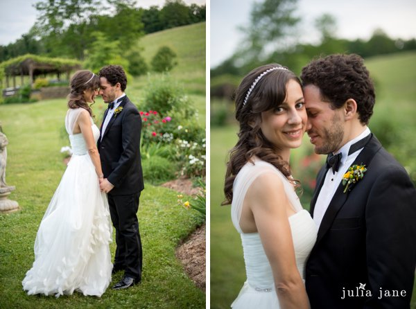 bride and groom at red maple vineyard