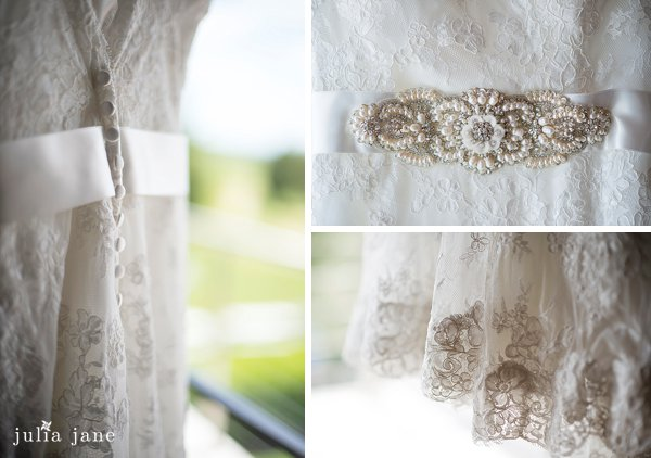 lace wedding gown at saltwater farm