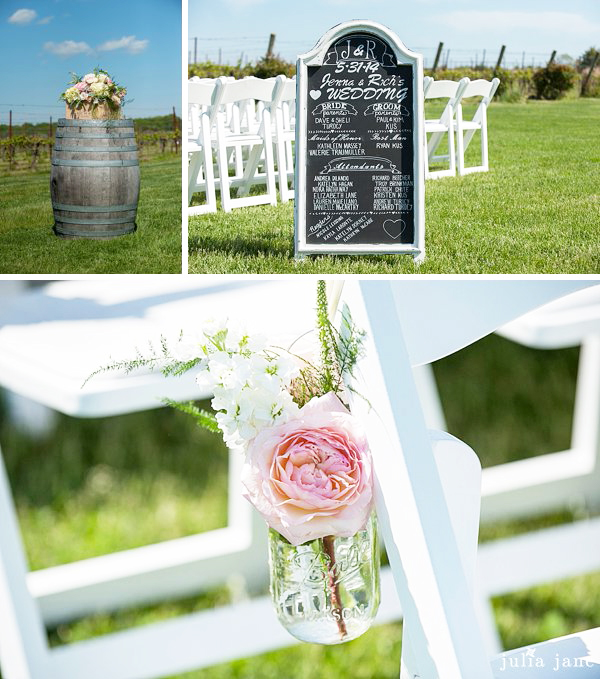ceremony details at saltwater farm