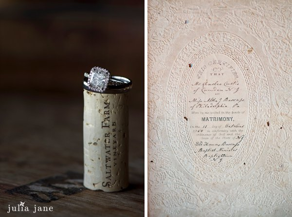 engagement ring at saltwater farm
