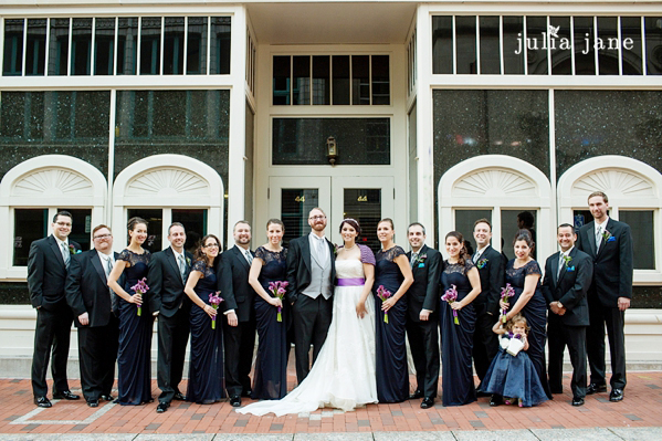 bridal party at the society room in hartford