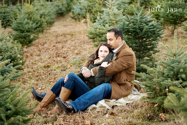 tree farm engagement session in connecticut by connecticut wedding photographer julia jane studios
