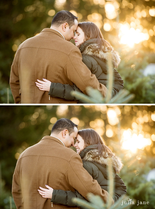 winter engagement photography in ct