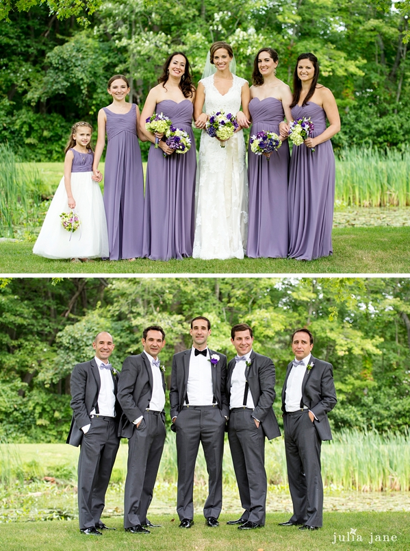 Twin Brooks Park bridal party portraits