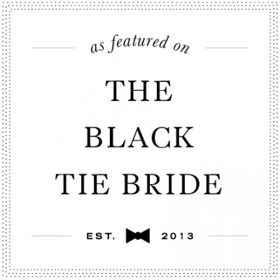 Featured on The Black Tie Bride: