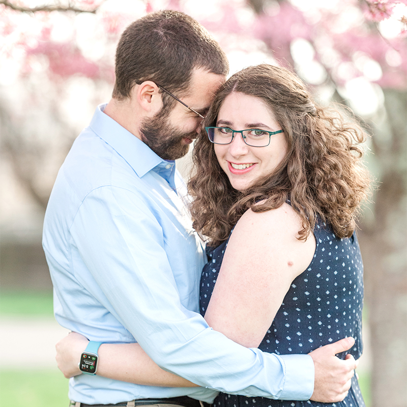 Engagement session at Waveny Park: