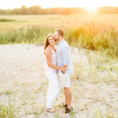 Engagement session at Silver Sands State Park: