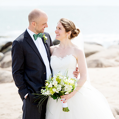 Rhode Island Beach Wedding: