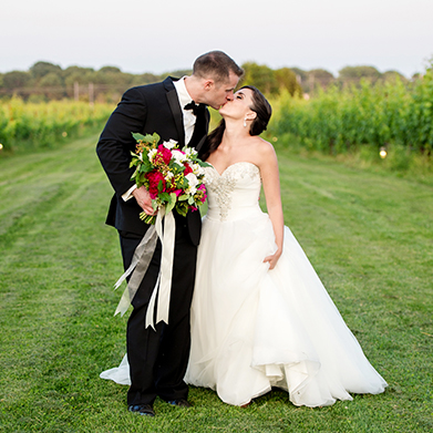 A Saltwater Farm Vineyard Wedding: