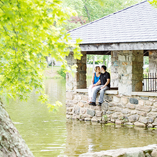 A Tilley Pond Park Engagement Session: