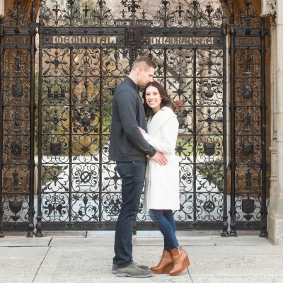 Winter Engagement Session at Yale University