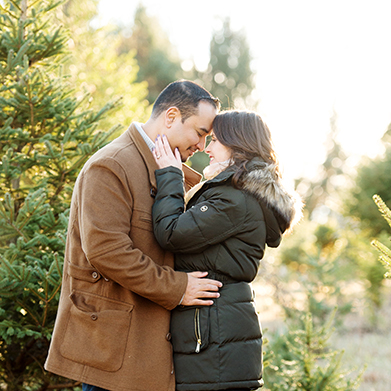 Winter Engagement Session in Connecticut: